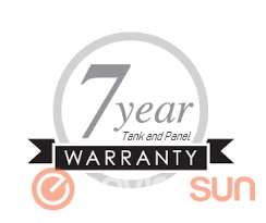 Envirosun solar hot water systems have a 7 year warranty