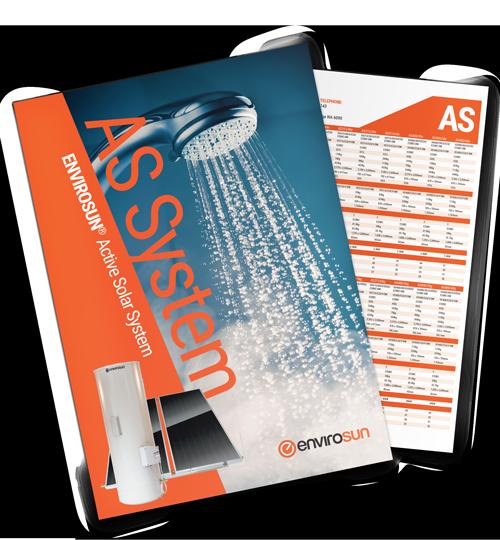 AS Split solar hot water heater brochure Envirosun water heaters