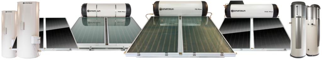 Envirosun solar wter heaters and Enviroheat hot water systems