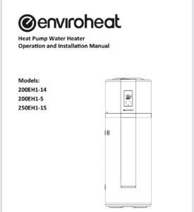 Enviroheat heat pump manuals