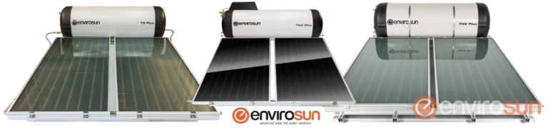 Roof mounted solar hot water systems Envirosun ts plus