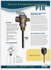 PTR valve for Envirosun solar water heaters