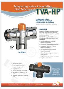 Solar hot water tempering valve